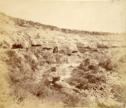 General view of Buddhist Caves I-XVI, Ajanta